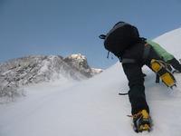 阿弥陀岳北稜第1岩峰へ.jpg